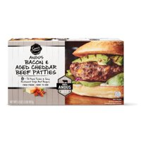 Sam's Choice Angus Bacon & Aged Cheddar Beef Patties, 6 ct, 2 lb (Frozen)