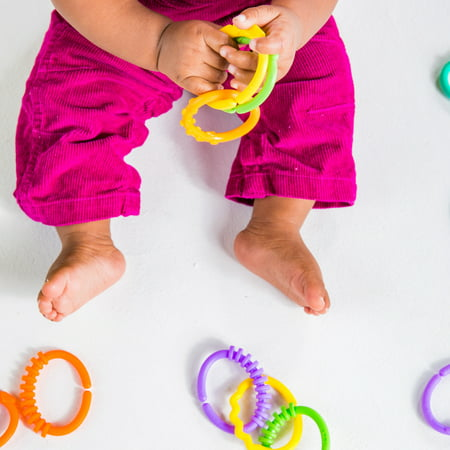 Bright Starts Lots of Links Take-Along Toys, Ages Newborn +
