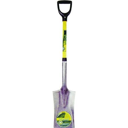 Vulcan Garden Spade Shovel, 7 In W X 11 In L, 29 In Fiberglass D-Grip, Crimped Collar Handle
