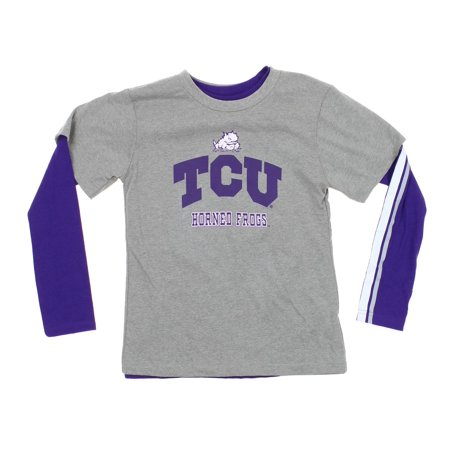 Sleeve Combo Pack (Outerstuff NCAA Youth TCU Horned Frogs Classic Fade 2 Shirt Combo Pack,)
