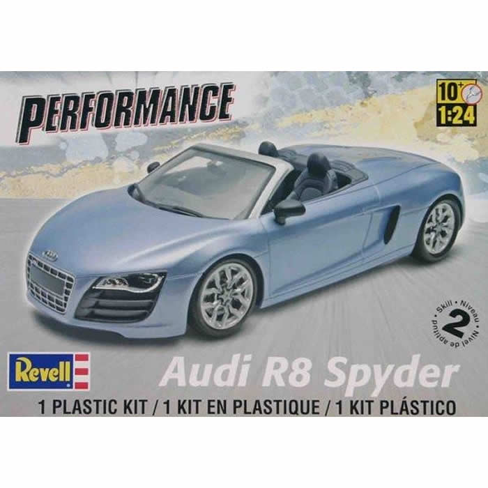 Audi R8 Spyder 1 25 Scale Plastic Model Kit Revell by Revell Mongram