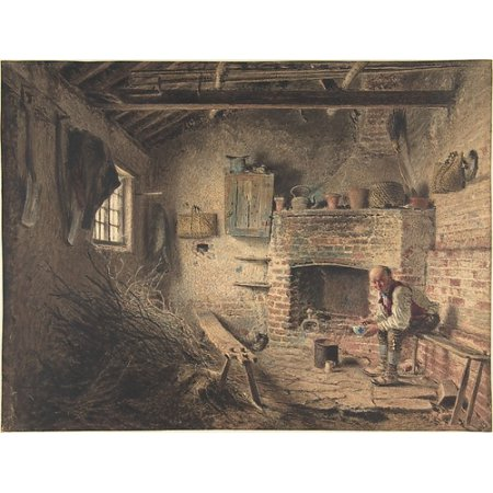 """The Woodcutters Breakfast Poster Print by William Henry Hunt (British London 1790  """"1864 London) (18 x"""