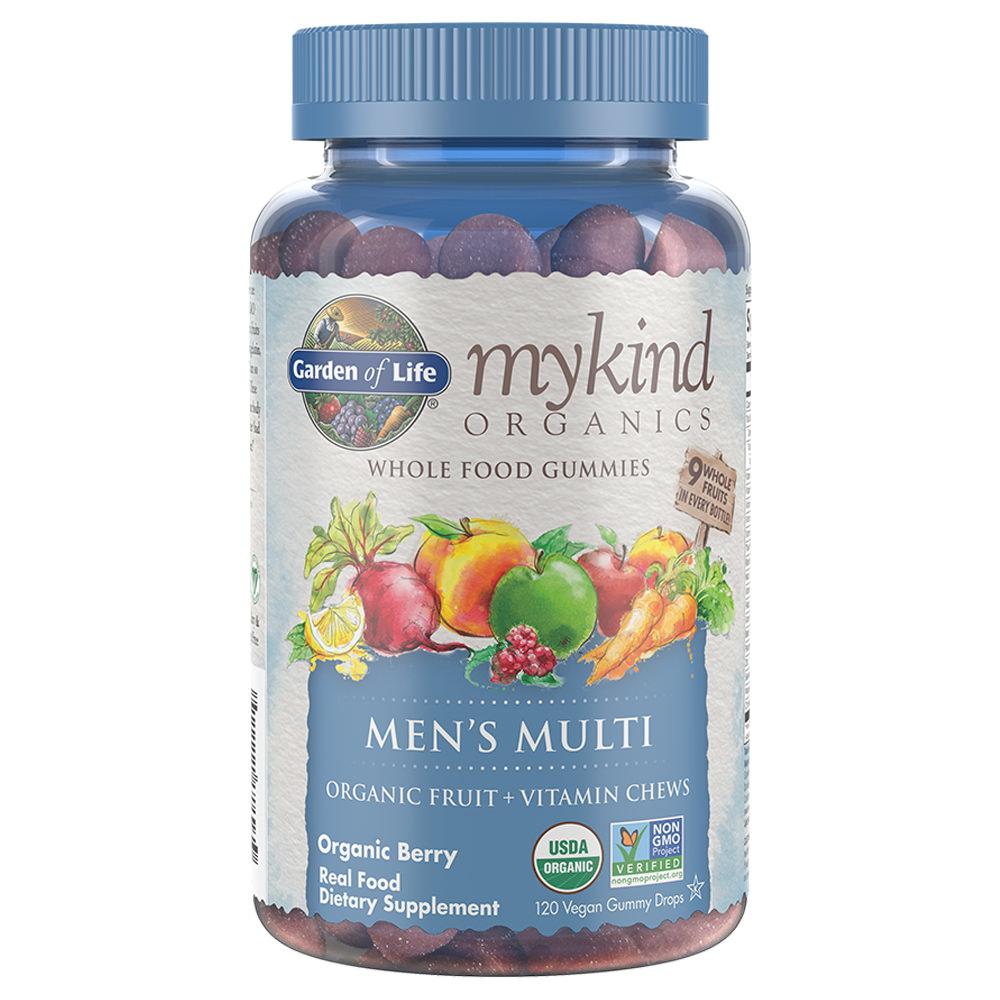 Garden of Life Mykind Organics Men's Gummy Multi - Berry 120 Organic Fruit Chews
