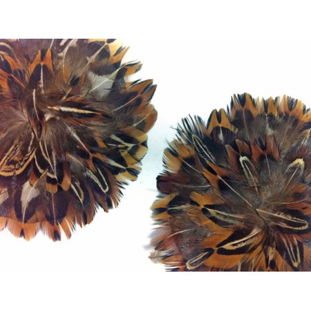 1 Piece - Natural Pheasant Almond Feather Pad