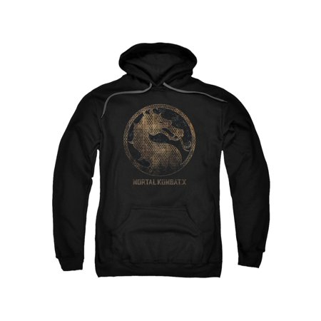 Mortal Kombat X Men's  Metal Seal Hooded Sweatshirt Black](Mortal Kombat X Halloween Tower)