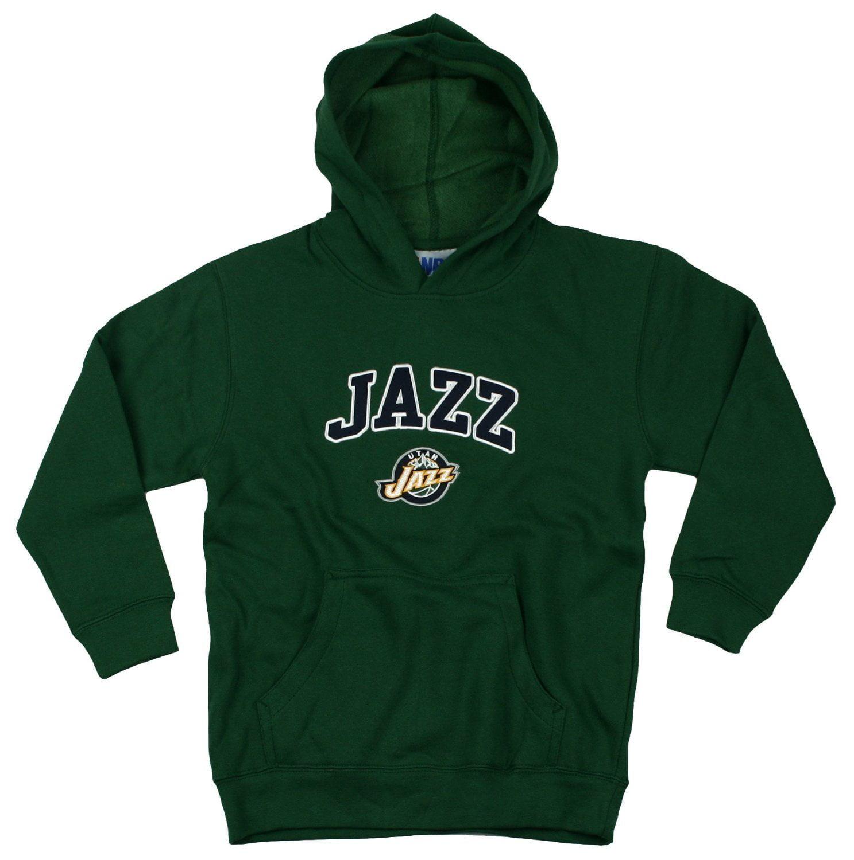 Utah Jazz NBA Basketball Youth Hoodie Hooded Sweatshirt, Green