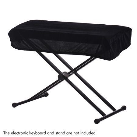 61/76 Keys Electronic Piano Keyboard Dust Cover Black Soft Cloth Anti-Dust Protector Washable - image 3 of 6