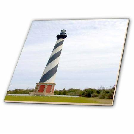 3dRose Cape Hatteras Lighthouse in North Carolina - US34 DFR0031 - David R. Frazier - Ceramic Tile, 4-inch