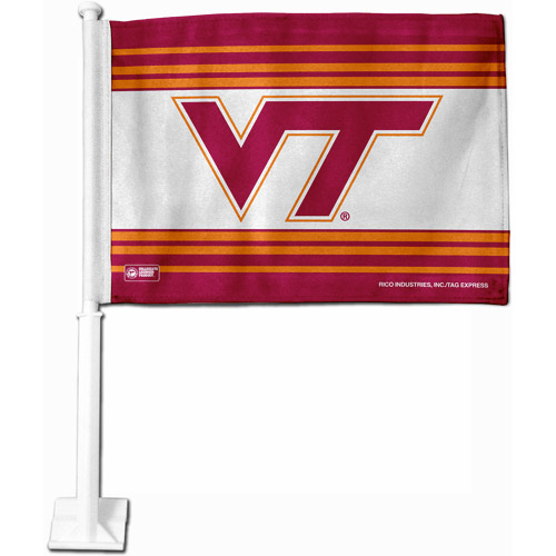 NCAA Virginia Car Flag Multicolor One Size