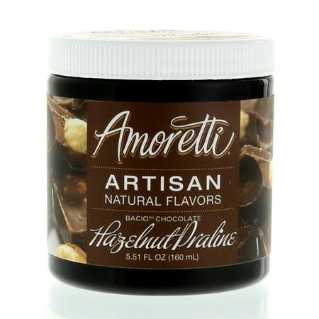 Amoretti Natural Artisan Flavor Chocolate Hazelnut Praline, 5.51 Fluid Ounce (Artisan Chocolate)