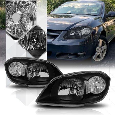 Black Housing Headlight Clear Turn Signal Reflector For 05 10 Cobalt G5 Pursuit 06 07 08 09