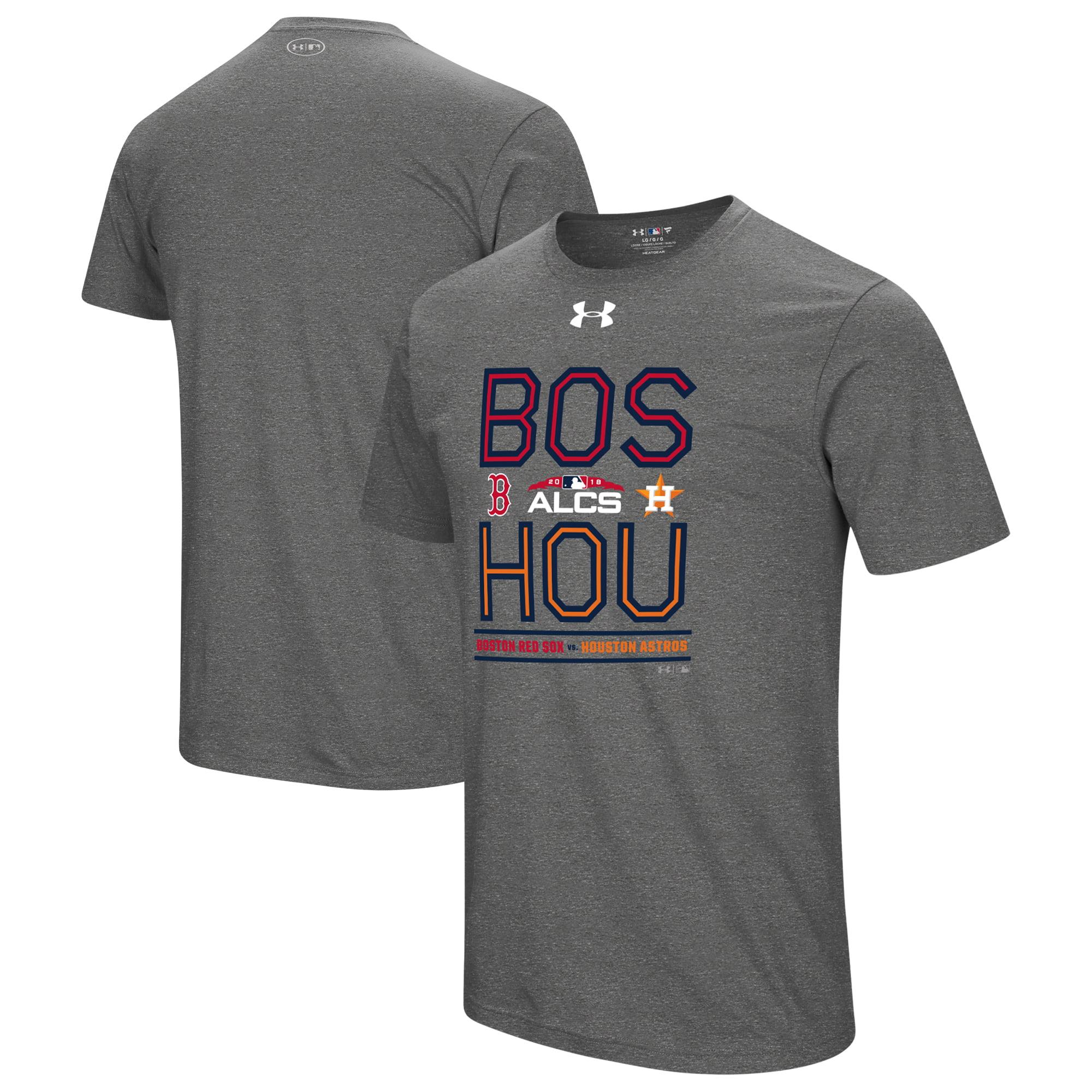 Boston Red Sox vs. Houston Astros Under Armour 2018 ALCS Matchup Big Block Performance T-Shirt - Gray