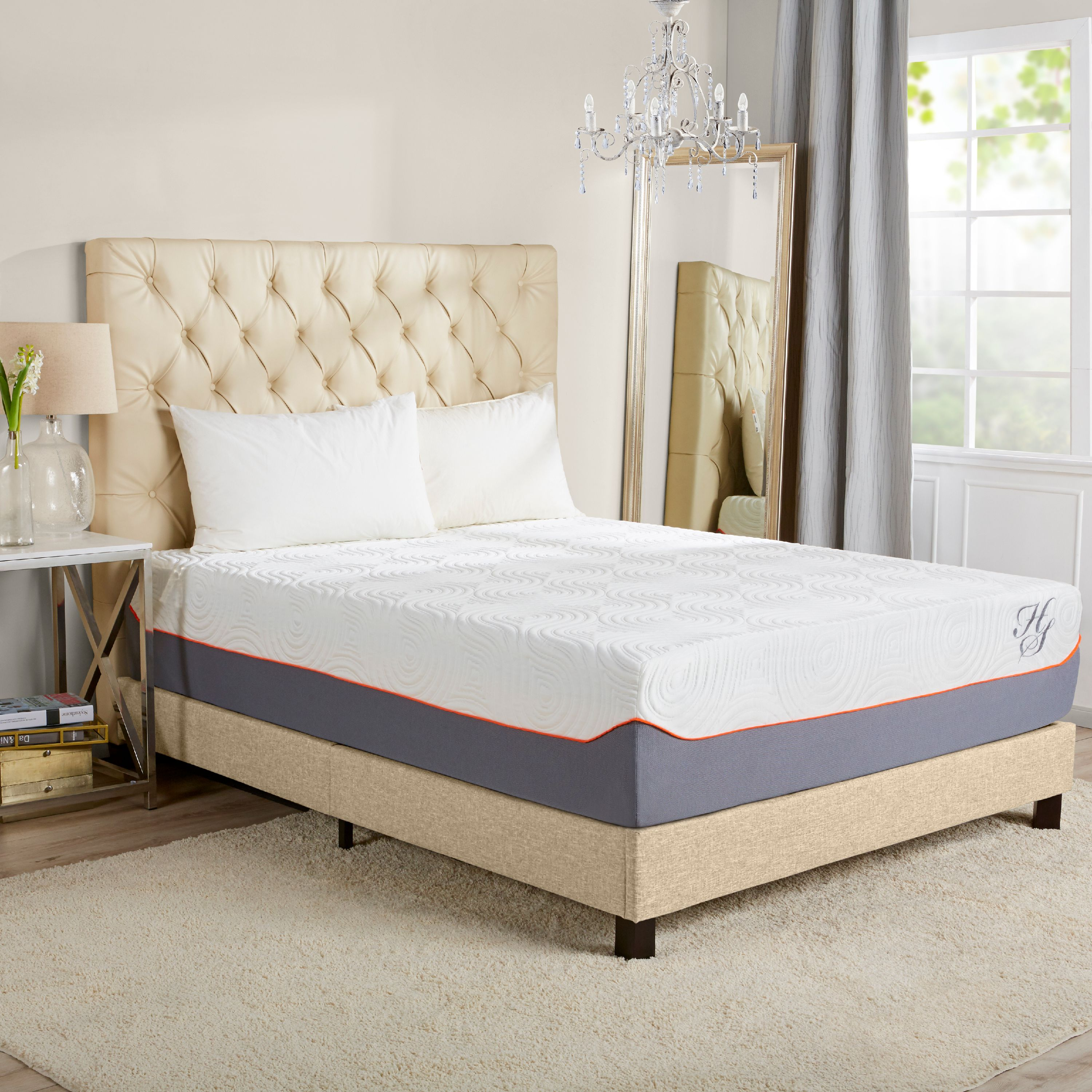 "Hotel Style 12"" Cooling Memory Foam Hybrid iCoil Spring Mattress"