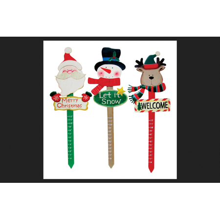 Alpine Snow Measure Stake Christmas Decoration Assorted ...