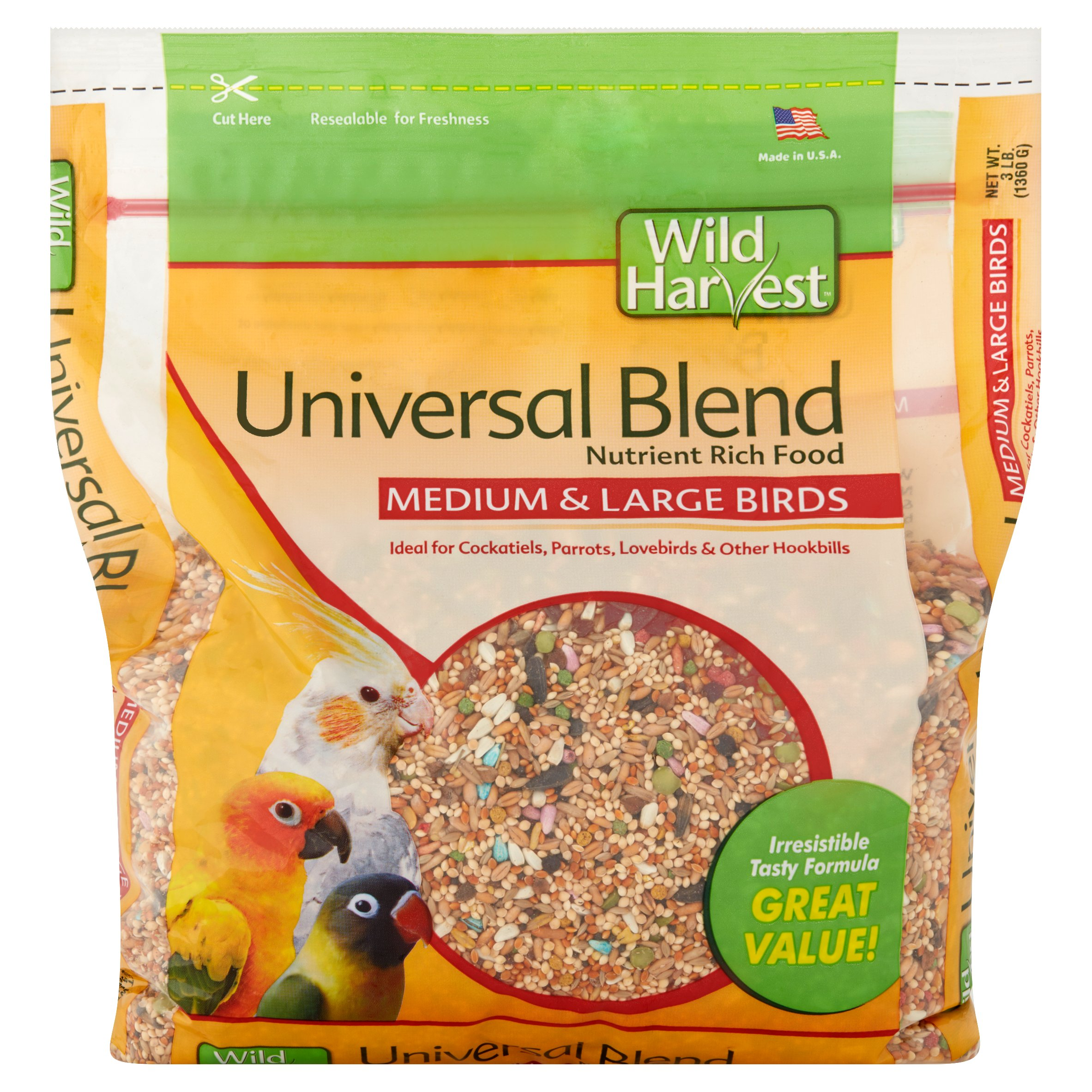 Wild Harvest Universal Blend Premium Medium & Large Bird Seed, 3 lb