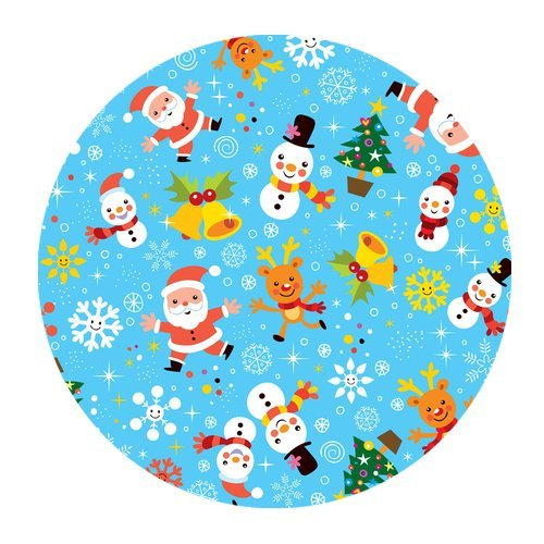MKHERT Cute Deer and Snowman Round Mousepad Mat for Mouse Mice Size 7.87x7.87 inches