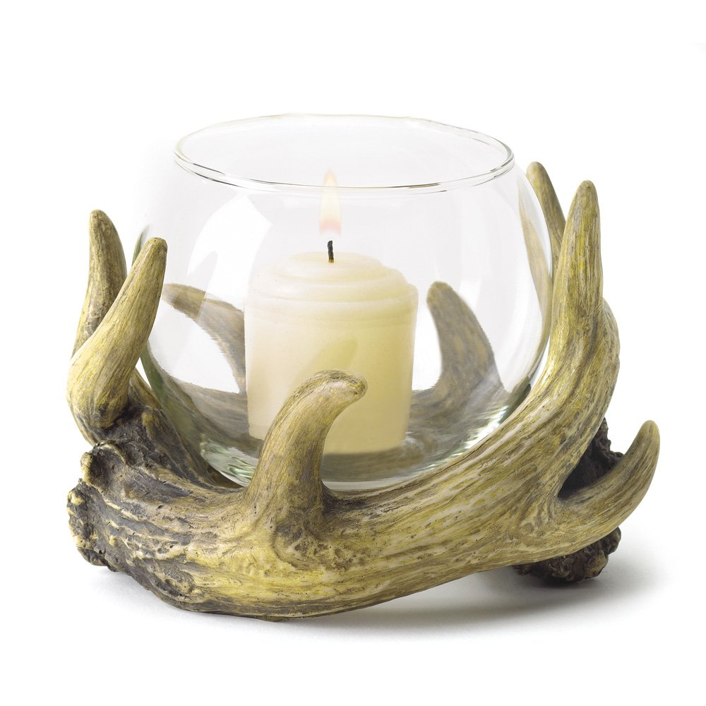 Candles Holders, Restaurant Centerpieces Decor Antler Rustic Table Candle Holder by Gallery of Light