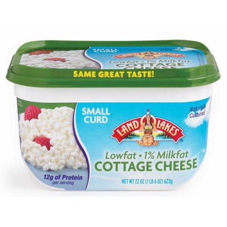 Land O'Lakes 1% Milk Fat Small Curd Cottage Cheese, 24 Oz  - Walmart com
