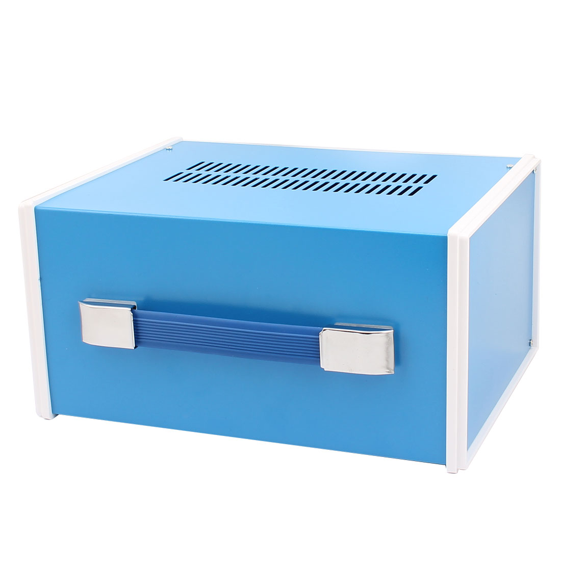 Metal Electronic Project Junction Box Enclosure Case Blue 270mm x 202mm x 130mm - image 1 de 3