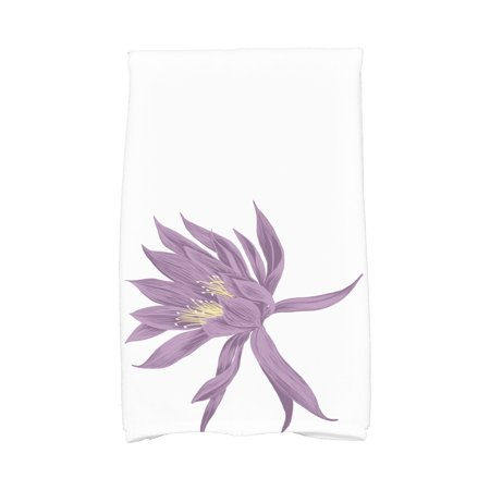 Simply Daisy, 16 x 25 Inch, Hojaver, Floral Print Kitchen Towel, Purple](Floral Dishes)