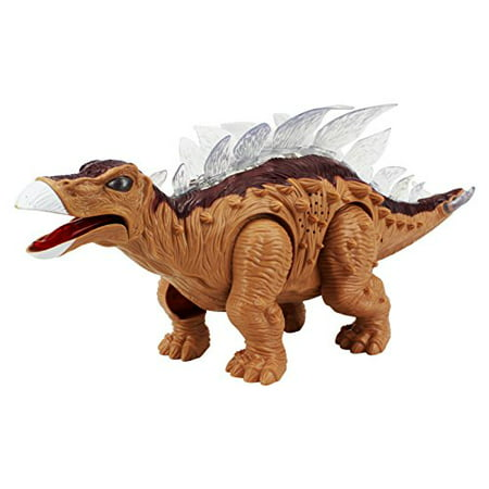 Dinosaur Family Stegosaurus Battery Operated Walking Toy Dinosaur Figure w/ Realistic Movement, Lights and Sounds (Colors May Vary) - Realistic Dinosaur