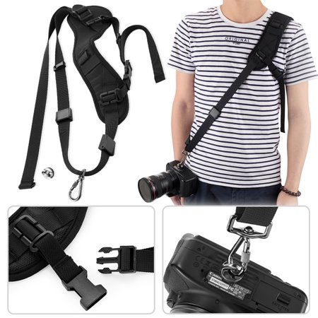 Amerteer Camera Strap, Rapid Fire Camera Shoulder Neck Strap Sling Belt with Quick Release Safety Tether Adjustable Strap & 2pcs Screw Mount for DSLR SLR