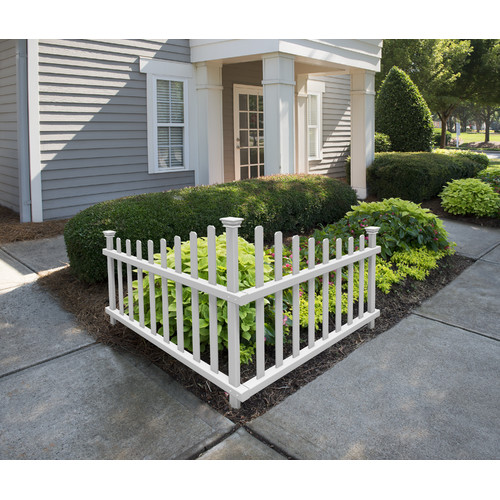 Zippity Outdoor Products 30 in. x 40 in. Ashley Vinyl Corner Picket Accent Fence by Zippity Outdoor Products