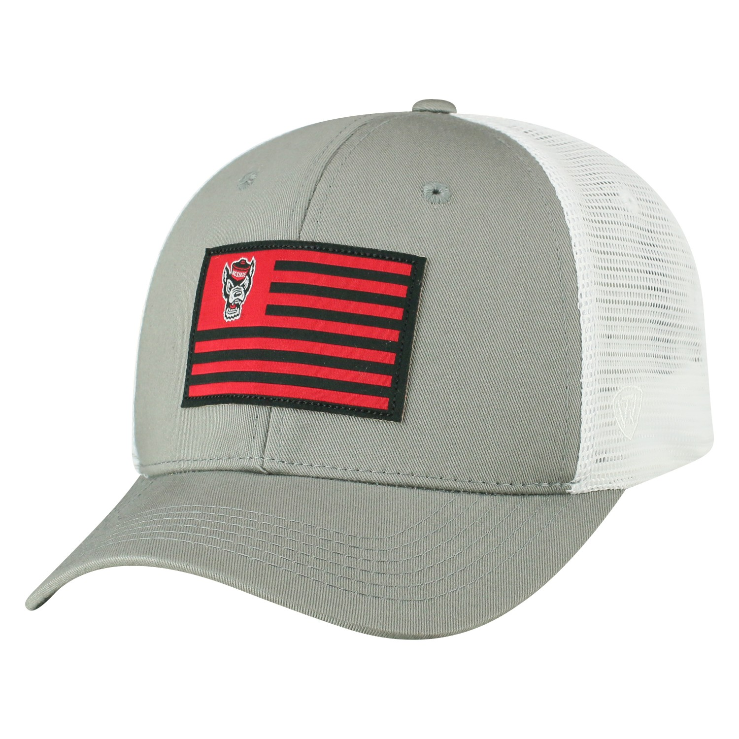 "NC State Wolfpack TOW Gray ""Brave"" Mesh Structured Adj. Hat Cap"