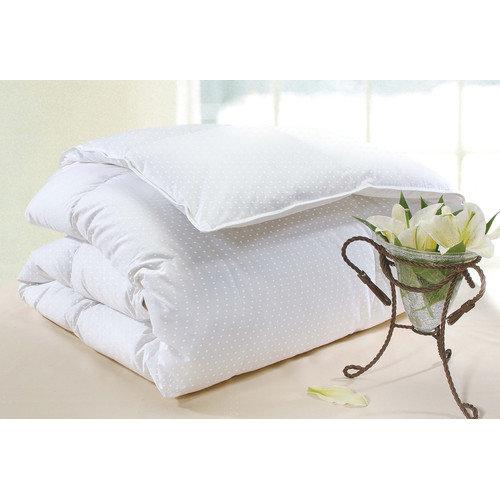 Wildon Home  Polka Dot Firm Cotton Goose Down Pillow in White
