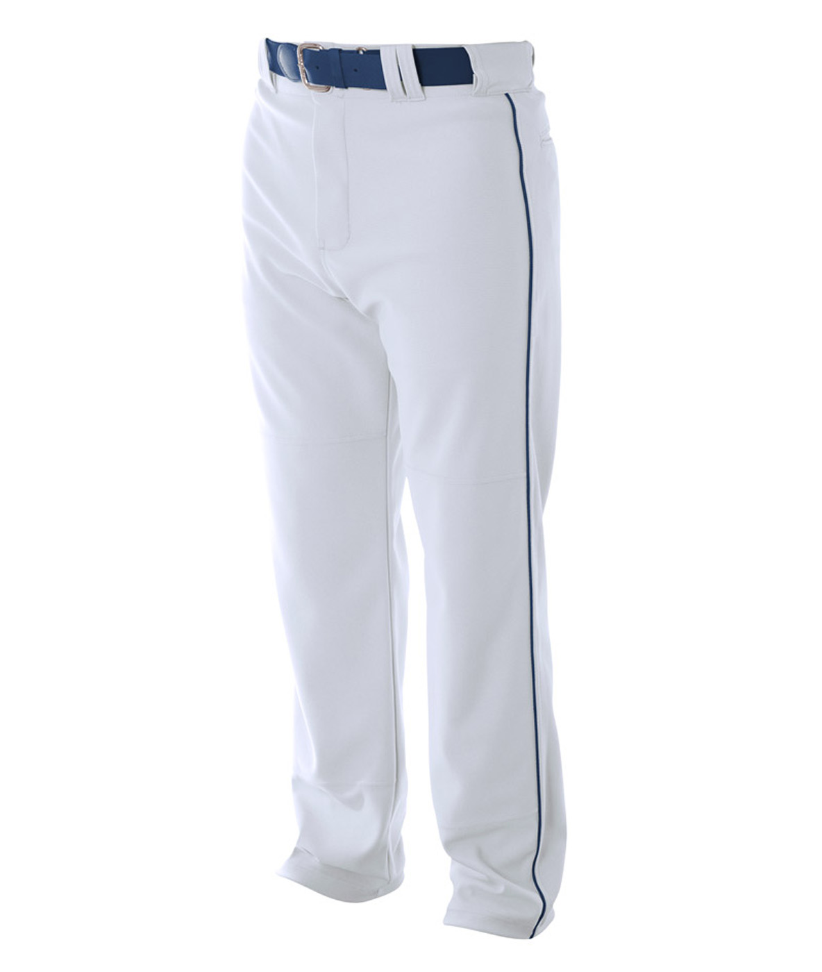 A4 Mens Pro Style Piped Baggy Baseball Pants Xx-Large Grey Navy Grey|Navy XX-Large by A4