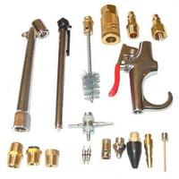 18 Piece Air Compressor Accessory Kit Chuck/Gauge/Blow Gun