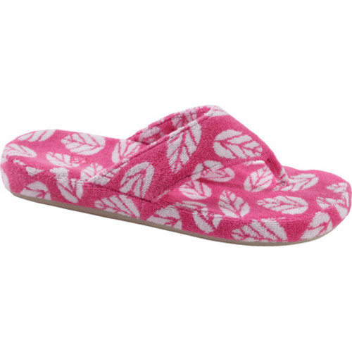 Acorn Women's Summerweight Spa Cotton Thong Azalea Leaf Sandal