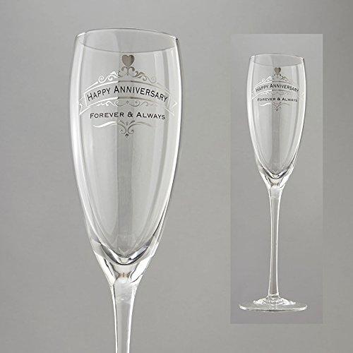 """Enesco Insignia Happy Anniversary Glass, 10.375"""", Clear"""