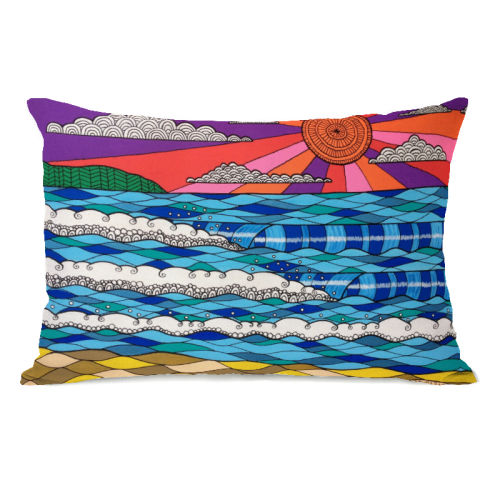 Summer Vibes Multi - 14x20 Pillow by Susan Claire