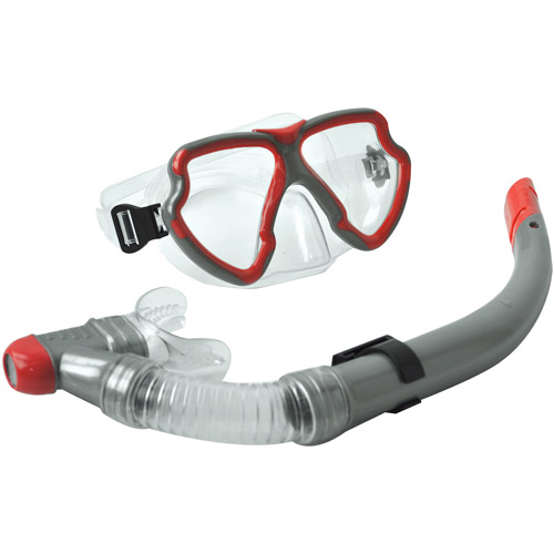 Youth Mask and Snorkel Set, Red