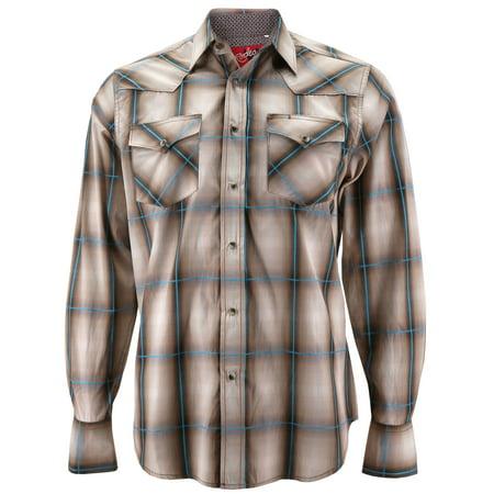 ad46ee56 Rodeo Clothing Co. - Rodeo Clothing Men's Premium Western Cowboy Pearl Snap  Long Sleeve Plaid Shirt (PS400L #441, 2XL) - Walmart.com