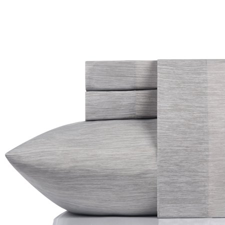 California Design Den Performance Activewear Sheet Set Gray Chambray, Twin 3 Piece ()