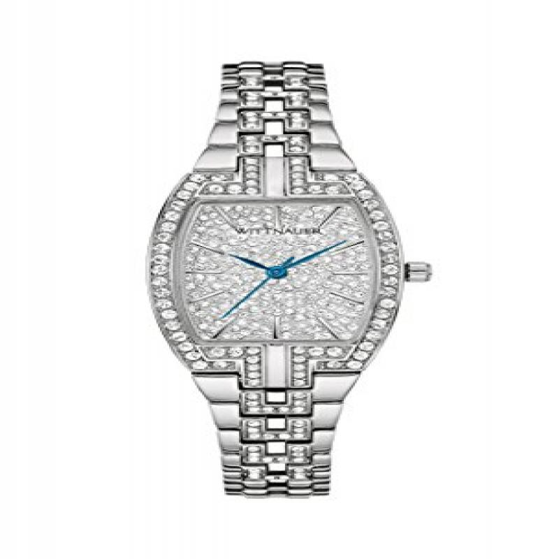 Wittnauer WN4016 Crystal Pave Setting Stainless Steel Lad...