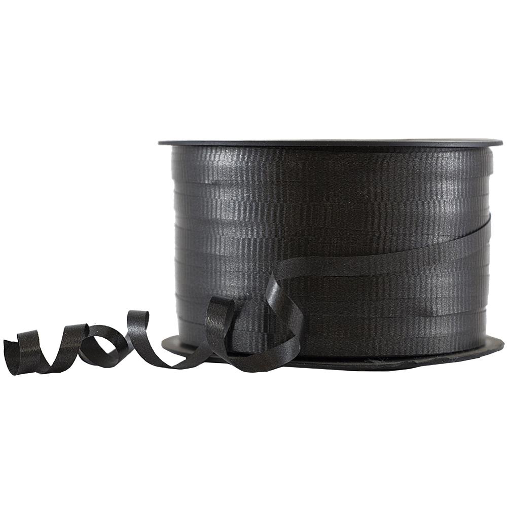 JAM Paper Curling Ribbon, 90 yards, Black, 12/pack