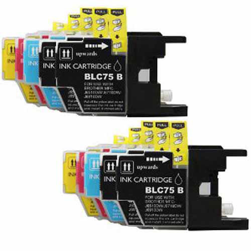 Universal Inkjet Compatible Multipack for Brother LC71, 10-Pack