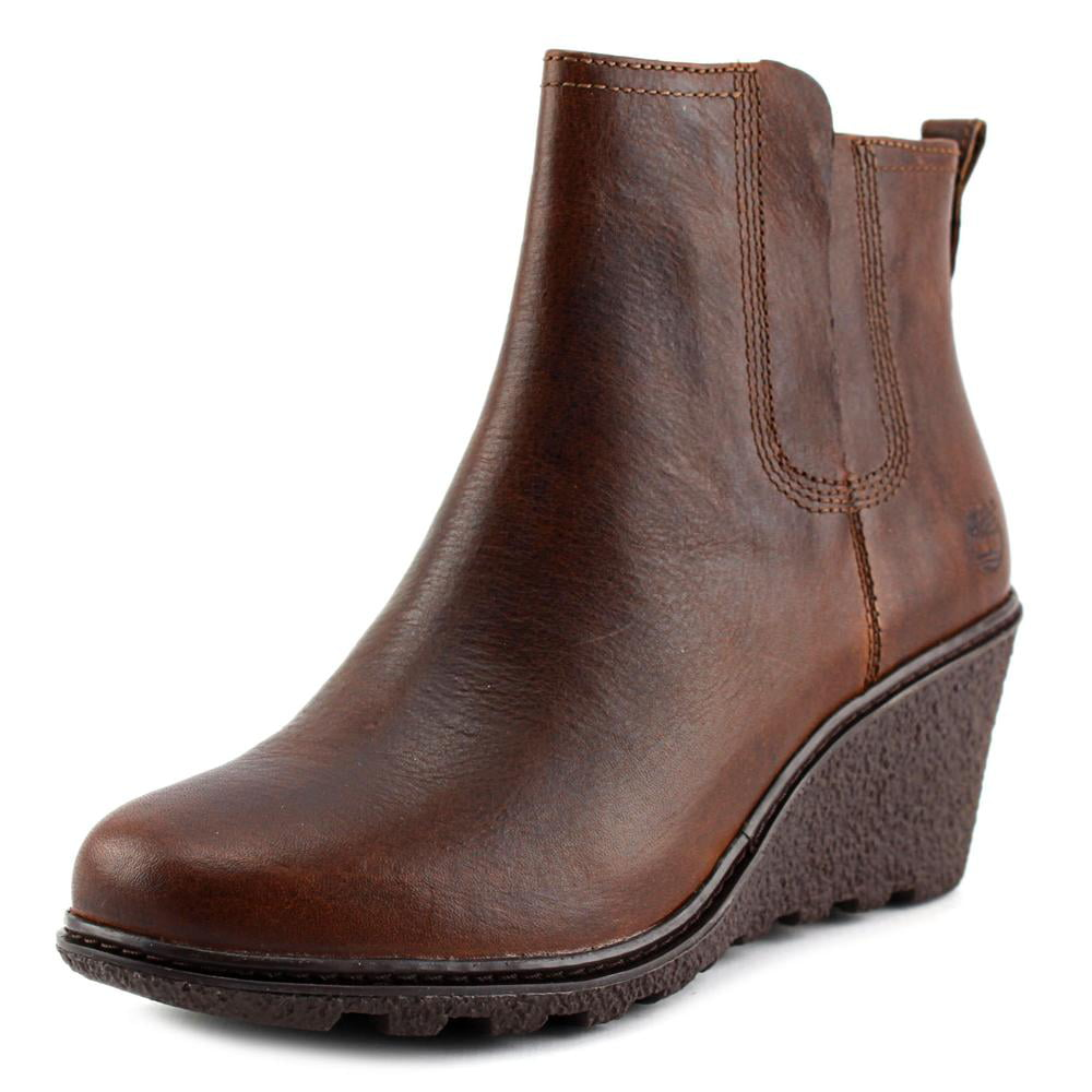 Timberland Amston Chelsea Women Round Toe Leather Ankle Boot by Timberland