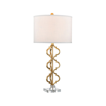 World of Lights WLGT145674 Table Lamps Gold Leaf Metal Acrylic -