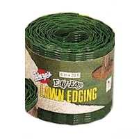 Warp's Easy-Edge LE-620-G Lawn Edging, 20 ft L, 6 in H, Plastic, Green