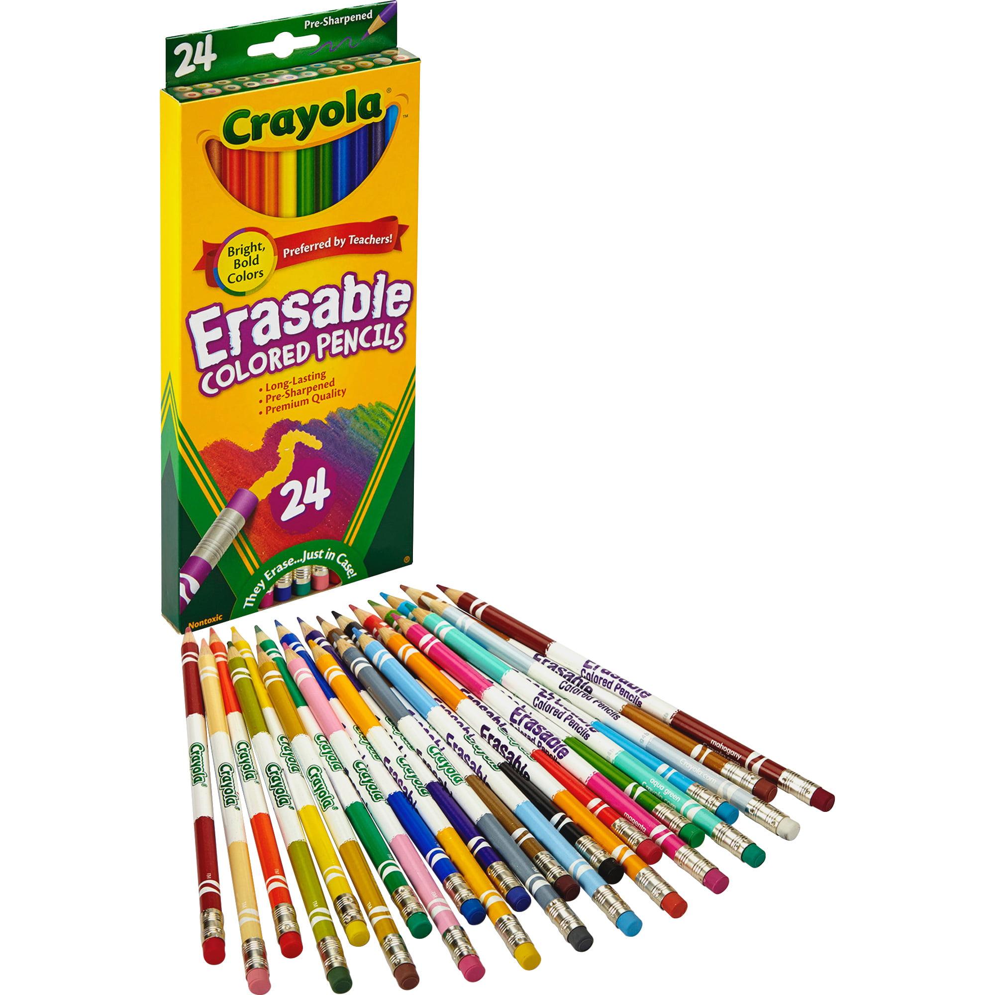 Crayola Eraseable Colored Pencils, 24 Count by Crayola