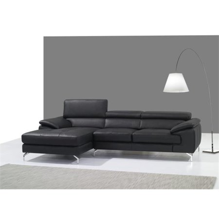 JandM Furniture  Italian Leather Mini Sectional Chaise - Left Facing - - Miami Sectional