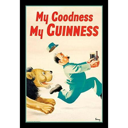 Buyartforless Framed Guinness Beer My Goodness My Guinness By Gilroy 18X12 Advertising Art Print Poster Irish Stout Brew