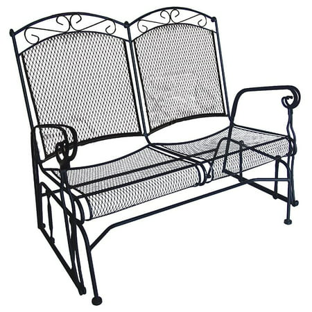 Dc America Charleston 4 Ft Wrought Iron Outdoor Glider Loveseat