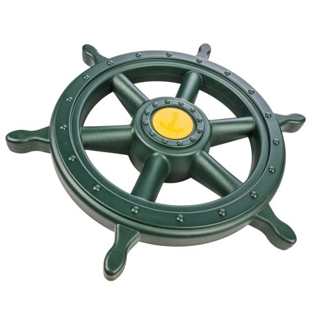 Captain Swing (Jack and June Yellow and Green Captain Ship Wheel Swing Set Accessory for Any)