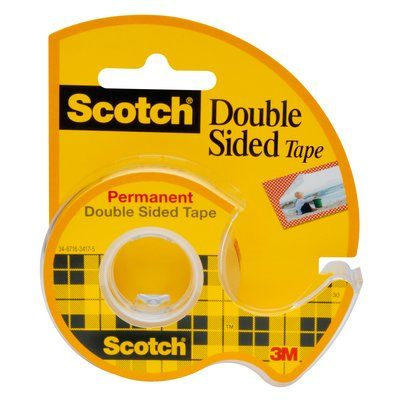 Scotch Removable Double-Sided Tape Dispenser, 3/4in. x 200in.