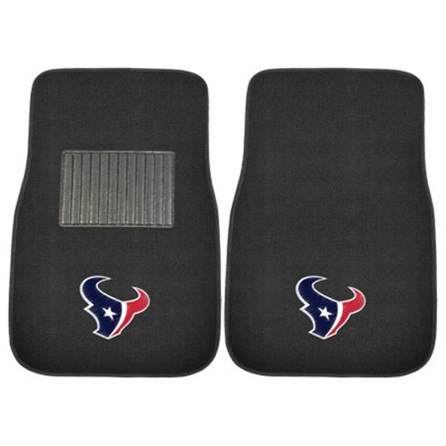 2 Piece Houston Texans NFL Embroidered Car Mat Set